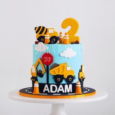 - 🇲🇾 Shawn & Ferdy - Adam's construction site cake. - Zucker & Liebe - - 🇲🇾 Shawn & Ferdy - Adam's construction site cake. - 🇲🇾 Shawn & Ferdy - Adam's construction site cake. Happy birthday to you! Digger Birthday Cake, 2nd Birthday Cake Boy, Toddler Birthday Cakes, Truck Birthday Cakes, 2nd Birthday Party Themes, Happy 2nd Birthday, Birthday Ideas, Construction Birthday Parties, Construction Theme Cake