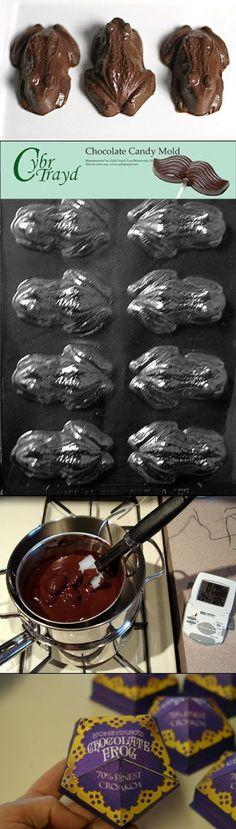 "How to Make ""Harry Potter"" Chocolate Frogs / Tu propia Rana de Chocolate / Tutorial / Fácil de hacer"