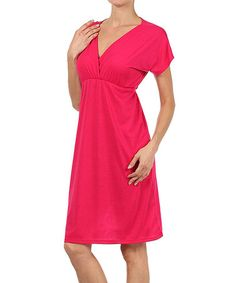 Loving this Coral Surplice Dress on #zulily! #zulilyfinds