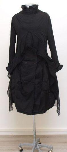 rundholz dip - Wickeljacke Jersey Tulle black - Winter 2015 - stilecht - mode für frauen mit format...
