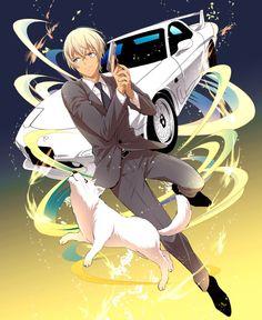 消滅都市の降谷さん来ないから描いた Hot Anime Boy, Anime Love, Conan Comics, Kaito Kid, Amuro Tooru, Kudo Shinichi, Detective Theme, Case Closed, Magic Kaito