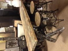 This gathering table with the stools is another fabulous find available in our Loft department.