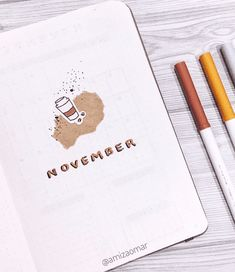 You are going to love this fall theme idea! COFFEE! Really is would be good anytime of year though, lets be honest! Click through to see some stunning bullet journal inspiration! bullet journal theme ideas / bullet journal monthly theme / bullet journal simple doodles / bullet journal ideas september / bullet journal themes october / bullet journal theme idea november December Bullet Journal, Bullet Journal Monthly Spread, Bullet Journal Themes, Bullet Journal Inspiration, Calendar Layout, Monthly Themes, Simple Doodles, Autumn Theme, November