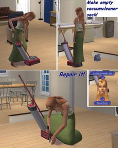 Working Vacuum Cleaner for the Sims 2 (TS2)