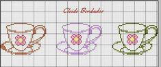 Cross Stitch Heart, Cross Stitch Borders, Cross Stitch Flowers, Cross Stitching, Cross Stitch Embroidery, Cross Stitch Patterns, Hand Embroidery Patterns, Beading Patterns, Made A Mano