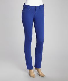 Look what I found on #zulily! Royal Blue Jeggings by Poplooks #zulilyfinds
