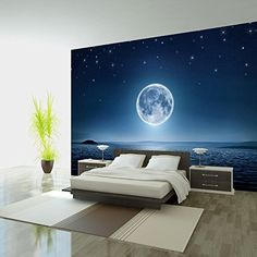 Fotomural 400x280 cm ! Papel tejido-no tejido. Fotomurales - Papel pintado 400x280 cm - Moon mar noche cielo estrella luna c-A-0036-a-a Fotomurales! B&D XXL https://www.amazon.es/dp/B00UZ5828M/ref=cm_sw_r_pi_dp_sF2dxbGP91D7Z
