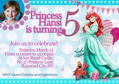 Personalised Party Invitations, Graphic Design Studios, Rapunzel, Rsvp, Banner, Disney Princess, Prints, Cards, Banner Stands