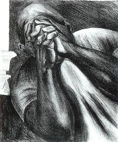 "Orozco, ""Grief,"" lithograph, 1928. From Jose Clemente Orozco in the United States, 1927-1934, p. 82."