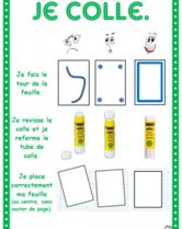 "Affichages ""technique"", je colle - ""How to glue"" poster in French French Classroom, School Classroom, Art School, Back To School, Classroom Ideas, French Teaching Resources, Teaching French, Teaching Tools, Behaviour Management"