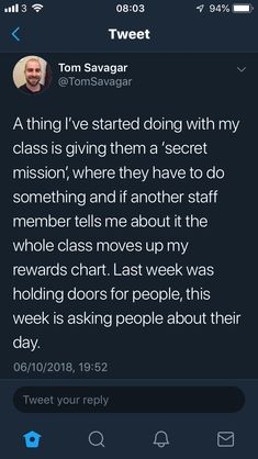 Secret Missions of kindness Instead do secret mission where they have to make a connection between what they're learning in regular class and what they're learning in music. If teacher tells me, the whole class gets another golden wing. Classroom Behavior, Future Classroom, School Classroom, Classroom Ideas, Primary Classroom, Behaviour Management, Classroom Management, Teacher Hacks, Teacher Binder