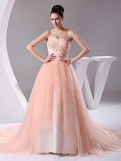 Principessa - Бальное платье Атласная свадебном платье с Аппликации - RUB 12031,91руб.