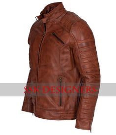 New Mens Vintage Dark Brown Waxed Leather Jacket Genuine Leather Christmas Gift in Clothes, Shoes & Accessories, Men's Clothing, Coats & Jackets   eBay