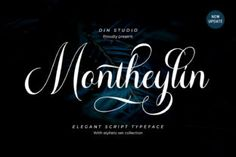 Montheylin feels incredibly elegant and flowing. It looks stunning on wedding invitations, thank you cards, quotes, greeting cards, logos, business... Modern Typeface, Script Typeface, Handwritten Fonts, Calligraphy Fonts, Typography Fonts, Hand Lettering, Fashion Typography, Modern Calligraphy, Cool Fonts
