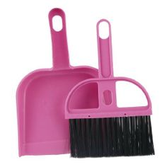 Amico Home Nylon Bristle Whisk Broom Dustpan Set Black Pink by Amico. $3.94. The  handle provides a comfortable grip and the flexible dust pan provides  maximum surface contact while sweeping. When done you can easily clean  the brush bristles. This Mini Broom Dustpan Set is designed to  clean car, keyboard, corner, gap, etc. Ideal for quick pick-ups  especially when your are on the go. Hole design for easily attached to other places.