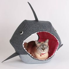 Great White Shark Cat Ball Kitty Bed  Sold Out - $ 99.00