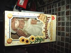 Mary Mac Doll Seedplanters Lindsey Hollow Wood Fabric 1997 Hang Tag COA Box #LindseyHollow