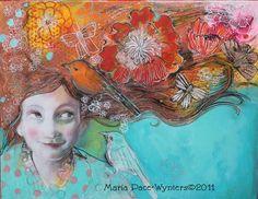 Espoir et désirs - beaux-arts Reproducion bloc par Maria Pace-Wynters