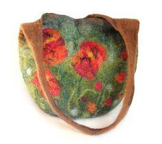 Torba filcowa - Felted bag 05 - Kwiaty (proj. Marlena Rakoczy), do kupienia w DecoBazaar.com