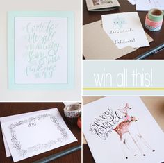 a giveaway // gold house paper + press