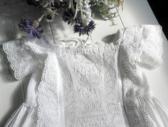 a beautiful Antique Christening Gown or Baptism Robe by UKpreLOVED