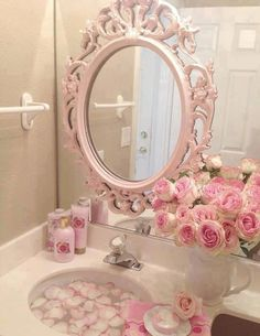 Romantic mirror And also forreal our bathroom