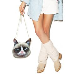 So Grumpy Purse ($18) ❤ liked on Polyvore featuring bags, handbags, white bags, chain handbags, white purse, vinyl pouch and pouch purse