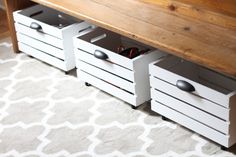 like the bench and rolling storage bins for shoes