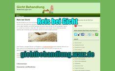 Reis bei Gicht - Lebensmittel / Ernährung Gout Diet, Food Items, Health