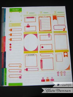 Waltzingmouse Makes.Sneak Peeking Planner Basics - Frames and a draw! Household Organization, Storage Organization, Make A Plan, How To Make, Hobonichi, Clear Stamps, Happy Planner, Card Templates, Cardmaking