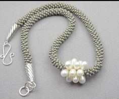 Kumihimo pearl necklace.