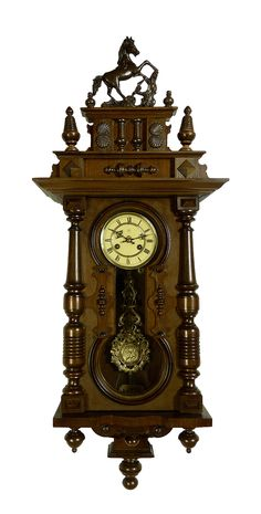 Beautiful Antique Clocks | ... about Beautiful Antique German Junghans Keyhole wall clock at 1900