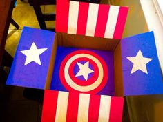 Captain America birthday care package.