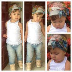 Little Fashionista  Fashion Kids, Little Girl Fashion, Toddler Fashion, Toddler Outfits, Fashion Hair, Baby Kind, Cute Baby Girl, Cute Babies, Gerber Baby
