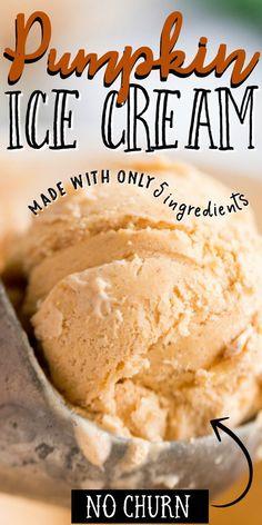 Mini Desserts, Ice Cream Desserts, Frozen Desserts, Frozen Treats, Dessert Recipes, Recipes With Whipping Cream, Ice Cream Recipes, Pumpkin Pie Ice Cream Recipe, Whipping Cream Uses