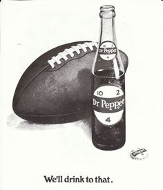 Vintage Dr Pepper ad from a Baylor football program