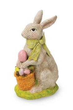 Decoupage Bunny Figurine
