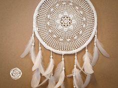 Dream Catcher  White Mandala  Unique Dream Catcher by bohonest #dream #catcher #decor #decoration #hippie #hipster #boho #native #american #indian #tribal #feather #feathers #home #bedroom #nursery #mobile #dreamer #unique #boho nest #christmas #gift #sale