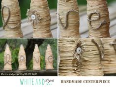 Centerpiece, love, handmade, rustic chic wedding. #whiteand #wedding #love White and shop for other beautiful decorations: https://www.etsy.com/it/shop/WHITEand