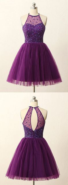 https://www.dresstells.com/a-line-halter-short-mini-grape-tulle-homecoming-dress-with-beading-sequins.html A-line bridesmaid dress, halter homecoming dress, short homecoming dress, mini prom homecoming dress, grape homecoming dress, grape bridesmaid dress, tulle homecoming dress, homecoming dress with beading, homecoming dress with sequins, 2016 bridesmaid dress, 2016 homecoming dress, cheap grape homecoming dress, popular homecoming dress, #2016 #grape #homecoming #cheap