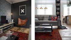 ¡Mi casa ideal! 69 m² abiertos en vintage industrial | Decoración