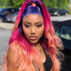 Women Pink Wigs Lace Front Hair Light Pink Short Hair Brown To Pink Hair Pink Wigs For Sale – cressral Hair Lights, Light Hair, Pink Short Hair, Purple Hair, The Wig Shop, Curly Hair Styles, Natural Hair Styles, Wine Hair, Peinados Pin Up