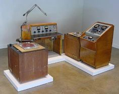 Old fashioned radio broadcast station - yes, a very old radio station