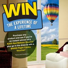 Where would you go? What would you do? The choice is yours!    All you need to do is make an Indoor or Outdoor blind purchase between 24th August and 4th October 2015 and you could WIN. Visit www.creativeblinds.com.au