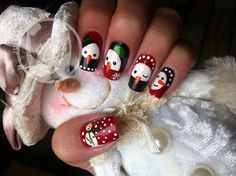 Christmas nails - 65 Cute Christmas Nails <3 <3
