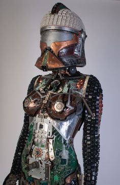 Gabriel Dishaw's Upcycled Creations Electronics & E-Waste Recycled Art