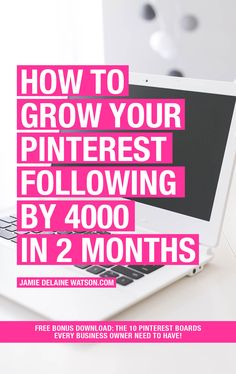 How to Grow Your Pinterest Following DRASTICALLY! Case Study: 4000 Followers in 2 Months, 15k followers in 6 months! Bonus Download: 10 Pinterest Boards Every User Needs to Have! http://jamiedelainewatson.com/how-to-grow-your-pinterest-following/