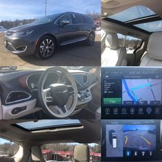 2017 'Granite Crystal Metallic' Chrysler Pacifica Limited.  BLUETOOTH. LEATHER. NAV. BACKUP CAM. SUNROOF. Stock 2386. Click pic for more info.