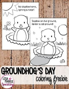 FREE Groundhog's Day Coloring Activity by Lisa Markle Sparkles Clipart and Preschool Fun Preschool Groundhog, Groundhog Day Activities, Happy Groundhog Day, Color Activities, Holiday Activities, Preschool Activities, Preschool At Home, Preschool Crafts, Ground Hog Day Crafts