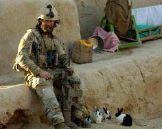 War beard, SCAR, combat bunnies.